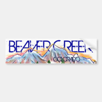 Beaver Creek Colorado artistic mountain sticker Bumper Sticker