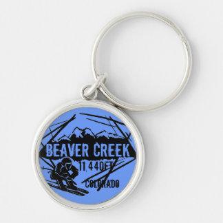 Beaver Creek Colorado blue ski elevation keychain