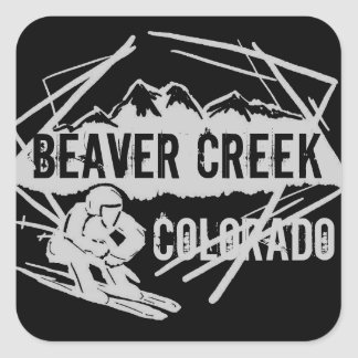 Beaver Creek Colorado dark ski stickers
