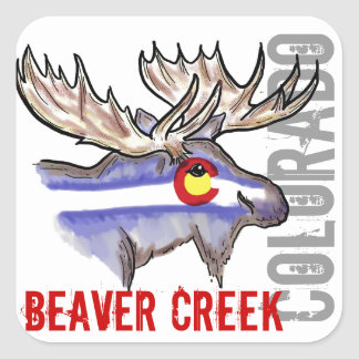 Beaver Creek Colorado flag elk design stickers