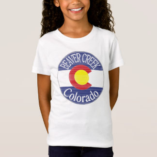 Beaver Creek Colorado girls circle flag tee
