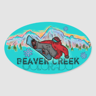 Beaver Creek Colorado mountain snowboard stickers