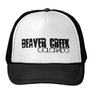 Beaver Creek Colorado simple black hat