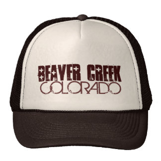 Beaver Creek Colorado simple brown hat