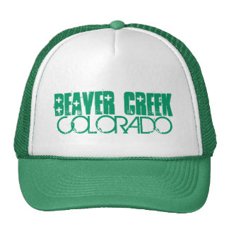 Beaver Creek Colorado simple green hat
