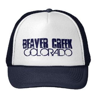 Beaver Creek Colorado simple navy blue hat