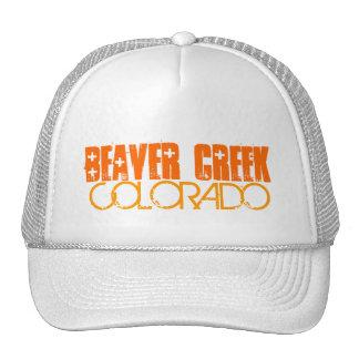 Beaver Creek Colorado simple orange letter hat