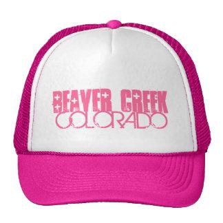 Beaver Creek Colorado simple pink hat