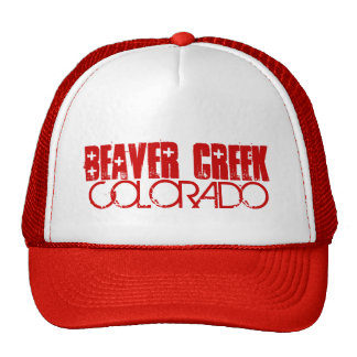 Beaver Creek Colorado simple red hat