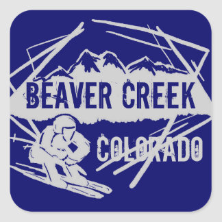 Beaver Creek Colorado ski dark blue stickers