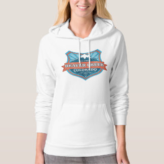 Beaver Creek Colorado teal grunge shield hoodie