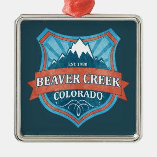 Beaver Creek Colorado teal grunge shield ornament