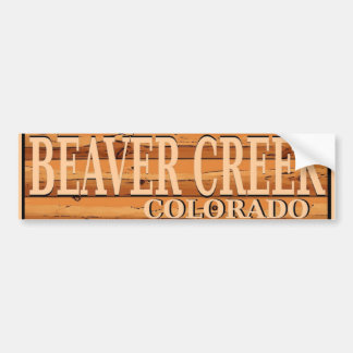 Beaver Creek Colorado wooden log sign Bumper Sticker