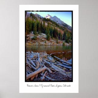 Beaver Dam & Pyramid Peak, Aspen, Colorado Poster