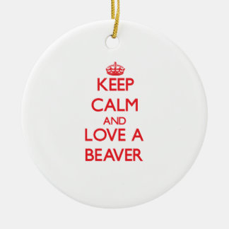 Beaver Ornaments