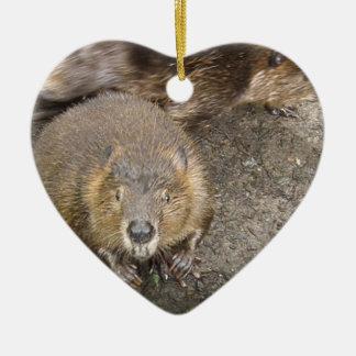 Beaver Design Ornament