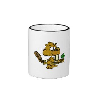 Beaver Eating Branch Mug