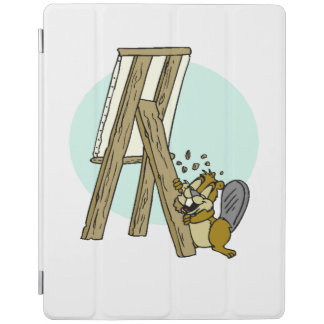 Beaver Eating Easel iPad Cover