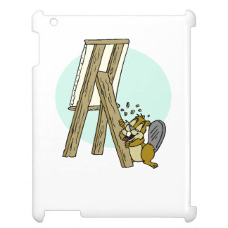 Beaver Eating Easel Cover For The iPad