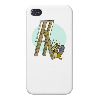 Beaver Eating Easel Covers For iPhone 4