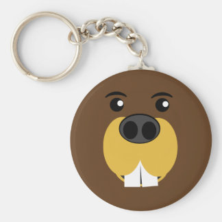 Beaver Face Key Ring