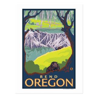 Beaver Family - Bend, Oregon Postcard