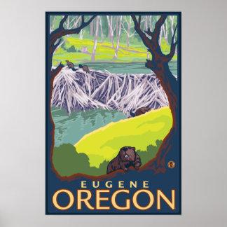 Beaver Family - Eugene, Oregon Poster