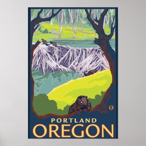 Beaver family portland oregon print zazzle for T shirt printing in portland oregon