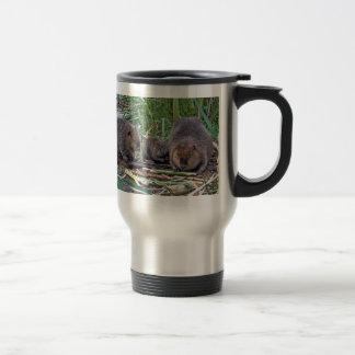 Beaver Family Stainless Steel Travel Mug
