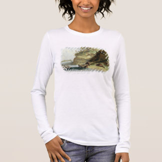 Beaver Hut on the Missouri, plate 17 from volume 1 Long Sleeve T-Shirt