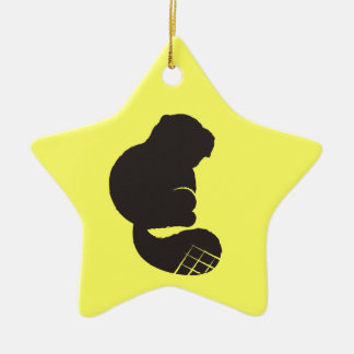 Beaver Icon, Nocturnal Rodent Ornament