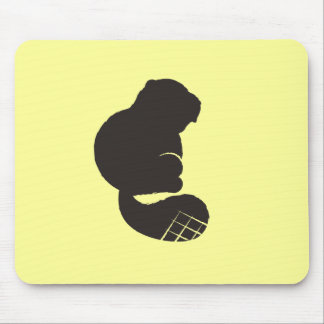 Beaver Icon, Nocturnal Rodent Mousepads