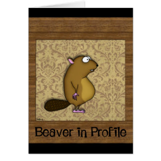 Beaver in Profile Greeting Card