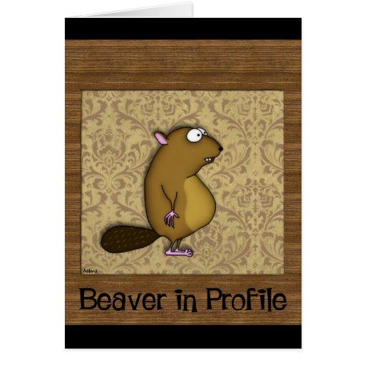 Beaver in Profile Card