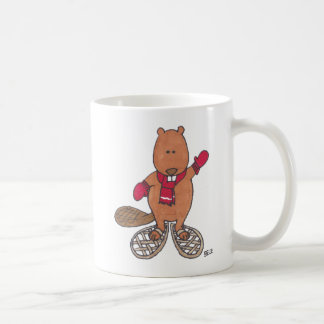 Beaver in Snowshoes Coffee Mug
