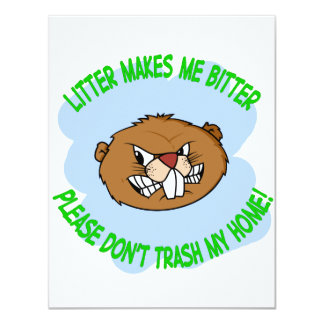 "beaver 4.25"" x 5.5"" invitation card"