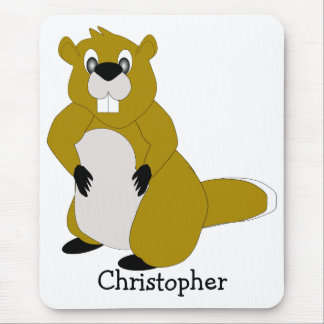 Beaver Just Add Name Mouse Mat