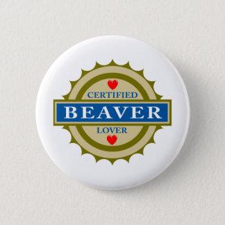 Beaver Lover 6 Cm Round Badge
