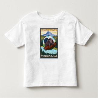Beaver & Mt. Hood - Government Camp, Oregon Shirts