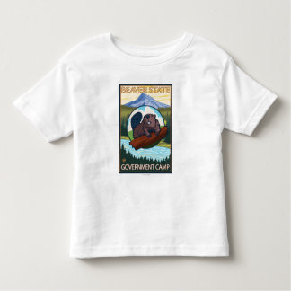 Beaver & Mt. Hood - Government Camp, Oregon Toddler T-Shirt