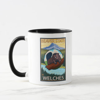 Beaver & Mt. Hood - Welches, Oregon Mug