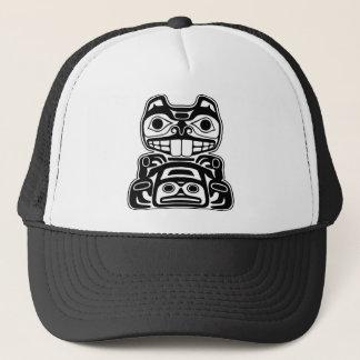Beaver Native American Design Trucker Hat