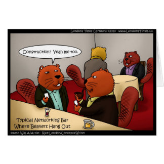 Beaver Networking Funny Gifts Tees & Cards