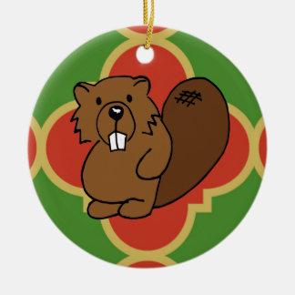 Beaver Quatrefoil Ornament
