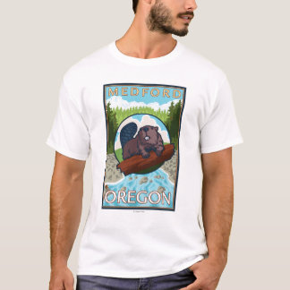 Beaver & River - Medford, Oregon T-Shirt