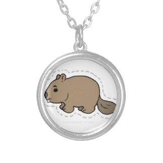 BEAVER SILVER PLATED NECKLACE