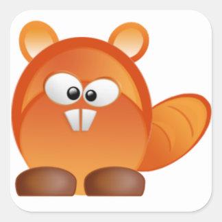 Beaver Square Sticker