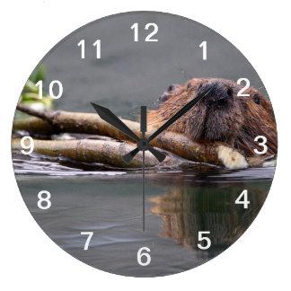 Beaver Working Wallclock