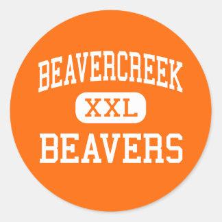 Beavercreek - Beavers - High - Beavercreek Ohio Round Sticker