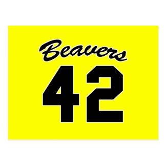 beavers 42 postcard
